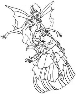 Winx Club Aisha Harmonix Coloring Pages