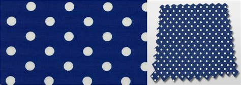 polka dot patterned royal blue white nursery curtains