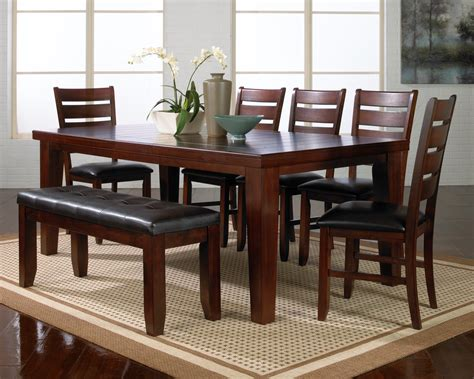 solid wood stripes lacquered brown dining table furniture