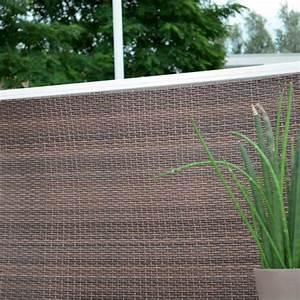 Cloison Jardin Anti Bruit : brise vue balcony 1 x 2 m gris brise vue portail ~ Edinachiropracticcenter.com Idées de Décoration
