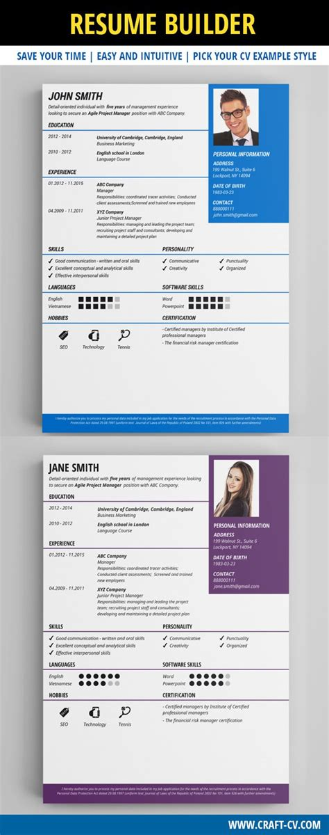 25 best ideas about resume builder template on
