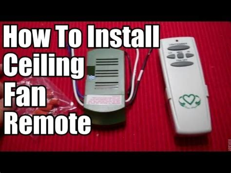 Diy How Install Ceiling Fan Remote Youtube