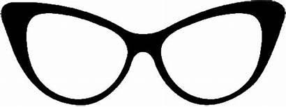 Glasses Cat Eye Transparent Clipart Eyes Drawing