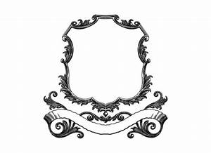 DaPinoGraphics » Vintage scroll frame with banner
