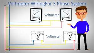 Voltmeter Wiring For 3 Phase System