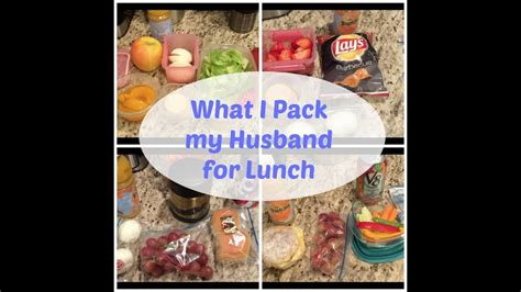 Lunch Ideas For My Husband  What I Packed For The Week
