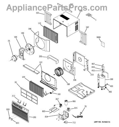 parts for ge ast05lbs1 room air conditioner parts appliancepartspros