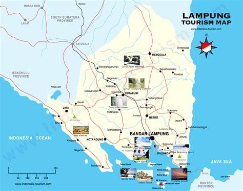 lampung map peta lampung