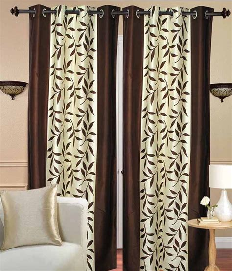 rk home furnishing brown and beige polyester window