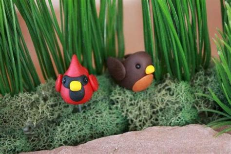 cute diy polymer clay fairy garden ideas