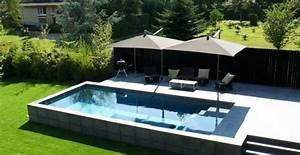 Piscine Semi Enterré Bois : piscine semi enterree pas cher ~ Premium-room.com Idées de Décoration