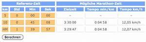 Gefahrene Kilometer Berechnen : zielzeit berechnung f r 10 km lauf halbmarathon marathon ~ Themetempest.com Abrechnung