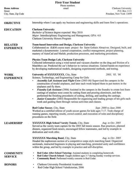 year student resume best resume collection