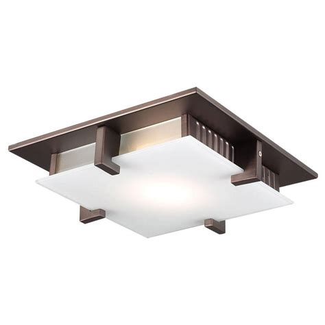 plc lighting 1 light ceiling light rubbed bronze acid
