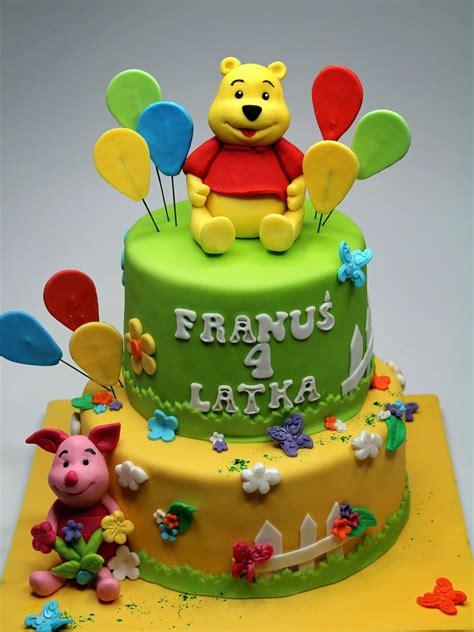 london patisserie winnie  pooh  piglet birthday cake