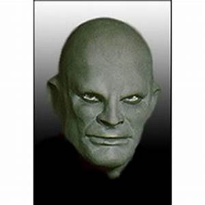 Latex Fantomas Mask Deluxe - Green - Carnival Store Prague