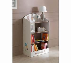 Meuble Bibliothèque Enfant : biblioth que enfant tedly blanc et beige petits meubles but ~ Preciouscoupons.com Idées de Décoration