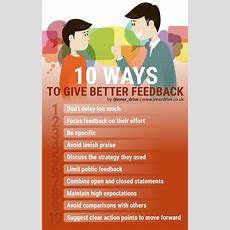 10 Ways To Give Better Feedback