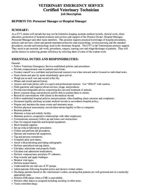 certified veterinary technician resume sles certified veterinary technician resume exle resumes design