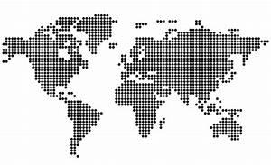 Free Dotted World Map, Vektörler - 365PSD.com