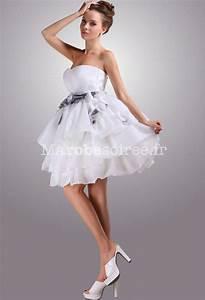 Robe Courte Mariée : robe de mari e courte bouffante ceinture ~ Melissatoandfro.com Idées de Décoration