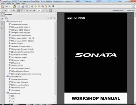 hyundai sonata 2004 10 nf workshop service repair