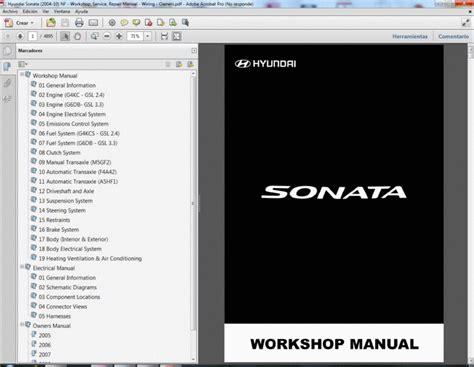 hyundai sonata   nf service manual wiring