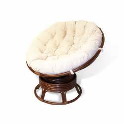 handmade rattan wicker round swivel rocking papasan chair