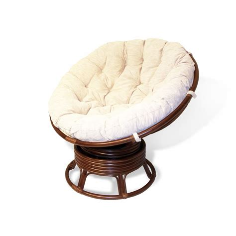 handmade rattan wicker swivel rocking papasan chair