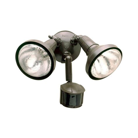 all pro 180 degree bronze motion sensing outdoor security