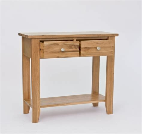 entry hall table height solid lansdown oak 2 drawer console table with 2 drawers