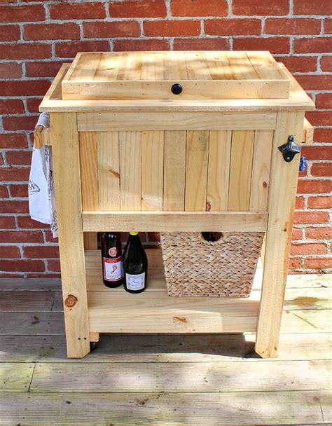 patio deck cooler stand reveal