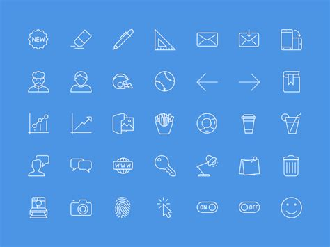 100 useful icons sle sketch freebie free