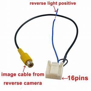 Video Harness For Toyota Oem Stereo To Reverse Camera Hiace Camry Prado 12