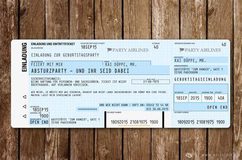 flugticket als einladungskarte ausgefallene einladungskarten