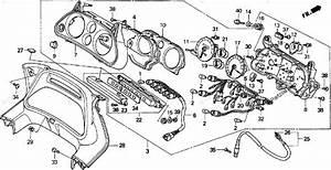 Honda Motorcycle 1994 Oem Parts Diagram For Speedometer