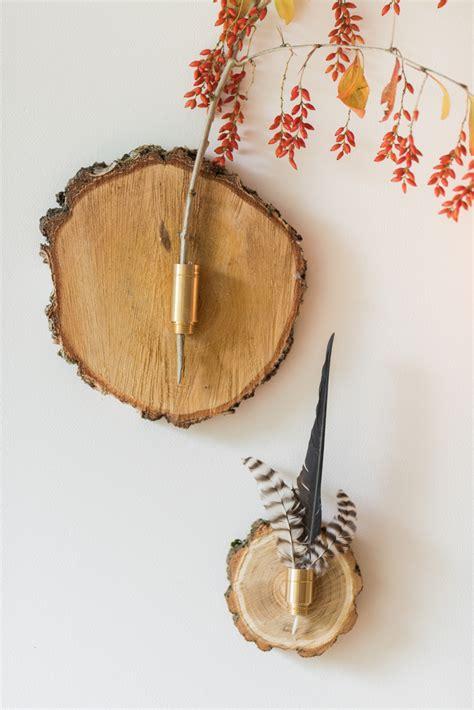 Deko Selber Machen Diy Wand Deko Mit Federn by Diy Herbstliche Wanddeko Aus Baumscheiben Leelah