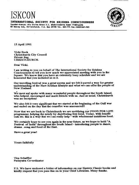business letter format nz sample business letter