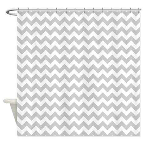 White And Gray Chevron Curtains by Gray And White Chevron Shower Curtain By Thechicboutique85