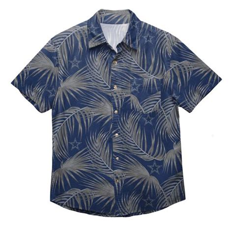 dallas cowboys nfl mens hawaiian button  shirt