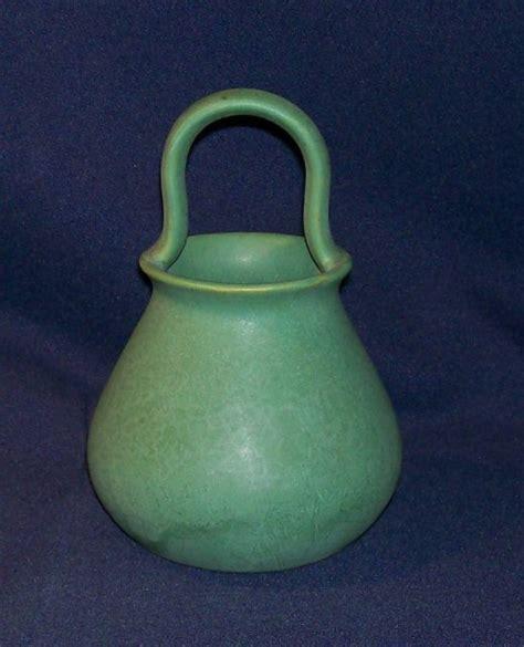 roseville 39 green matt 39 basket for sale antiques com