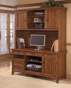 signature design by ashley home office tall desk hutch
