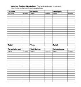 Free Printable Monthly Bill Chart Template