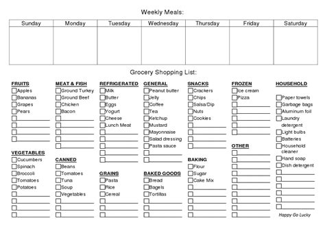 monthly meal planner template with grocery list weekly meal planner and grocery list free printable