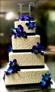 Blue Dendrobium Orchids Wedding Cakes | Flowers By Anne ...