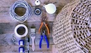 Abat Jour En Osier : luminaire transformer un panier en osier en plafonnier design ~ Nature-et-papiers.com Idées de Décoration