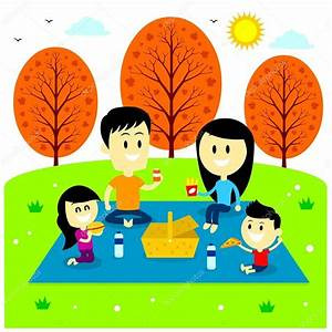 Family Fun Picnic at The Park — Stock Vector © jacklooser ...