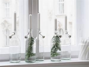 Kerzenhalter Für Flaschen : easy weihnachts diy kerzenhalter aus flaschen mit ~ Whattoseeinmadrid.com Haus und Dekorationen