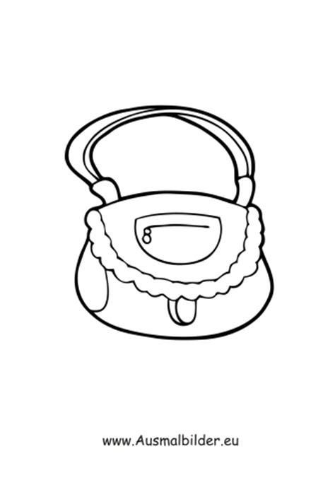 ausmalbilder schoene handtasche kleidung malvorlagen