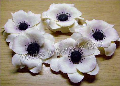 pasta di zucchero fiori passo passo anemone flower tutorial pasta di zucchero